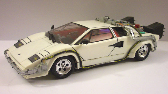 Back To The Future Lamborghini Countach 1 24 Scale Model